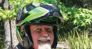 Clem really likes his helmet! (HJC CL-Max II)