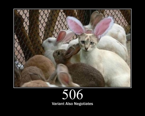506 Variant Also Negotiates  Transparent content negotiation for the request results in a circular reference.