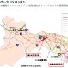 津久井広域道路の「向原東側」交差点を先頭にした渋滞