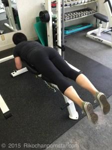 Rikochanpornstar legs workout