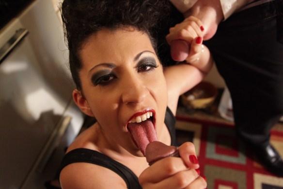 Kinky Gaga sucks cock!