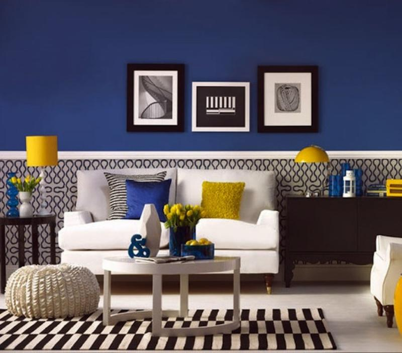 20 Charming Blue and Yellow Living Room Design Ideas   Rilane 20 Charming Blue and Yellow Living Room Design Ideas