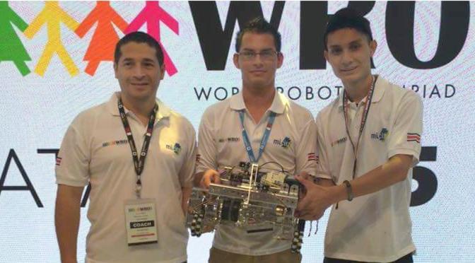 Ticos ganan cuarto lugar en Olimpiada Mundial de Robótica