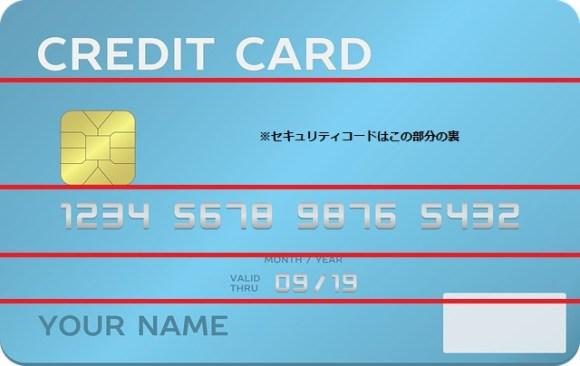 クレジットカードの切り分け