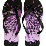 C.S. Lewis I Beleive Musewear Flip Flops
