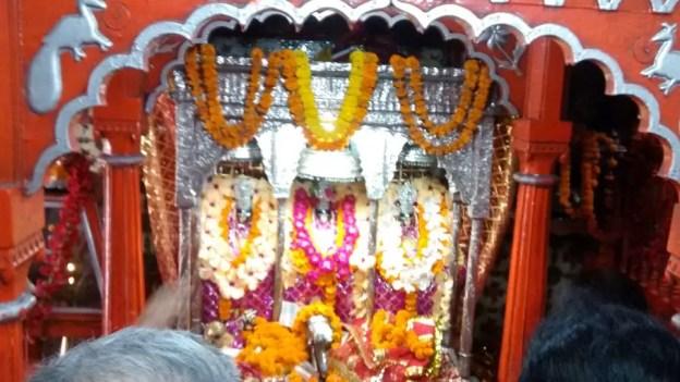 Idols of Maha Kali, Maha Laxmi and Maha Sarawati