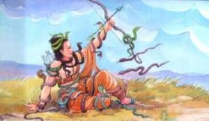 Meghnaad used naga astra against Ram and Laxman