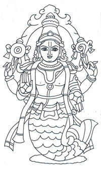 matasya avatara Dashavatar pictures   Indian mythology (1)