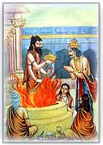 birth of prince the ramayana dashrath agni indian mythology story The Ramayana story in pictures   Bal Kand (1)