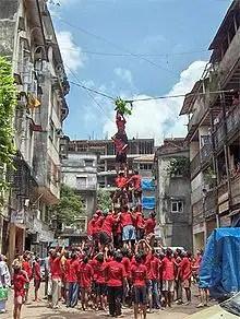 celebrating Janmashtami festival