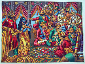Draupadi's cheer haran at royal court of hastinapur