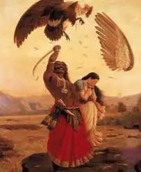 Jatayu fights with Ravana