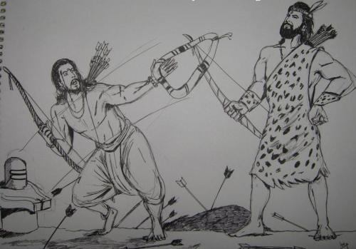 Kirata and Arjuna