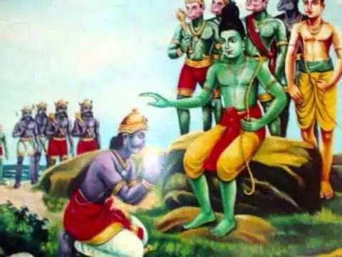 Vibheeshana and Rama