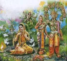 Ravana and Sita in Ashoka Vatika