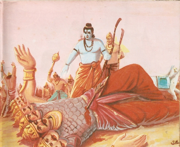 Ravana killed by Rama