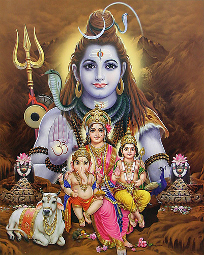Lord Shiva and his family