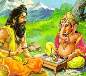 Ved Vyasa and Lord Ganesha