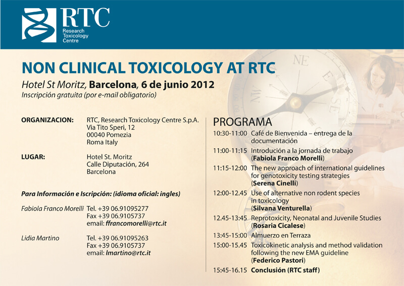Non Clinical Toxicology at RTC