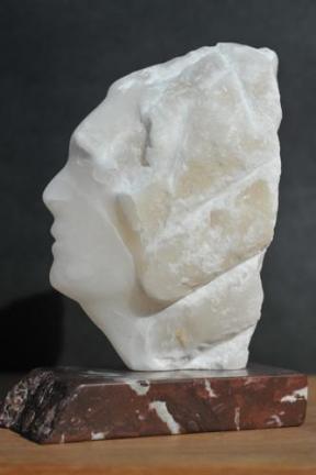 sculpture d'Indien de profil - Dominique Rivaux