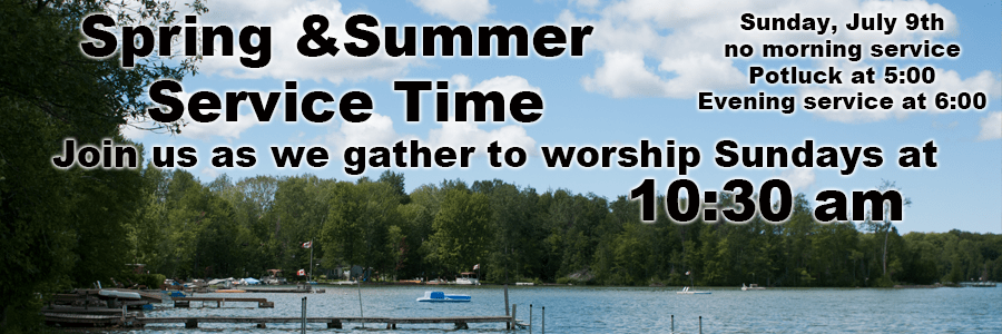 Spring & Summer Service Times