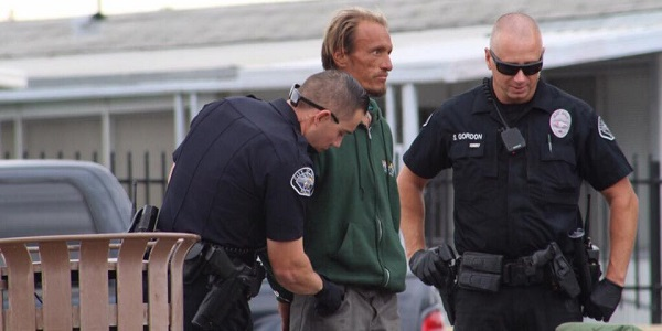 "HEMET - Man threatening to ""scalp"" others detained, hospitalized"