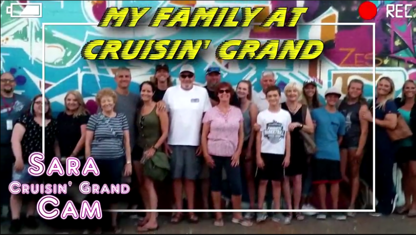 Many of Sara's family members came out to help with the Cruising Grand event.