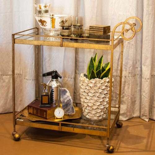 Medium Of Vintage Bar Cart