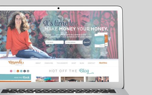 Amanda Abella Custom WordPress Web Design by RKA Ink