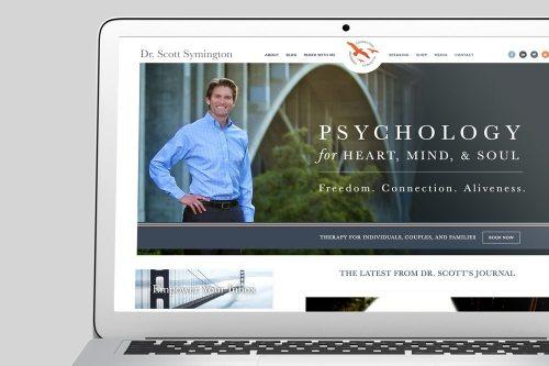 Dr Scott Symington Custom WordPress Web Design by RKA ink