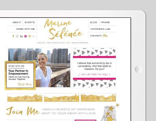 Marine Selenee Custom WordPress Web Design by RKA ink