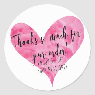 Avon Stickers   Labels   Zazzle UK Thanks for Your Order Stickers   Round