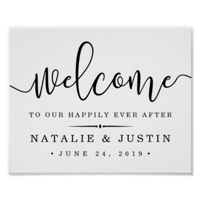 Happily Ever After | Wedding Welcome Sign | Zazzle.com.au