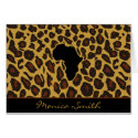 Africa Leopard Stationery Note Card