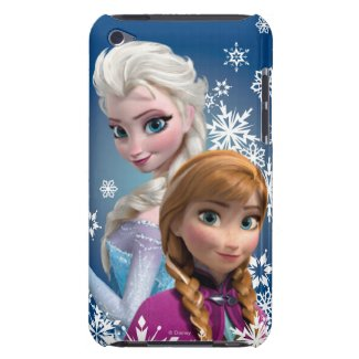 Anna and Elsa with Snowflakes Barely There iPod Case