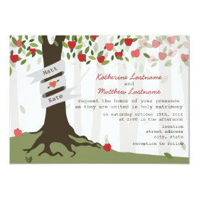 Apple Orchard Fall Autumn Wedding Invitation