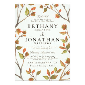 Autumn Trees Wedding 5x7 Paper Invitation Card