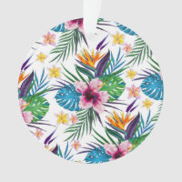 Beautiful tropical floral paint watercolors