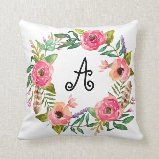 Boho Monogram | Throw Pillow