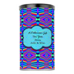 Bright Turquoise Blue Pink Mod Artsy Design Hot Chocolate Drink Mix