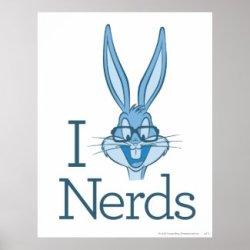 Bugs Bunny Nerd Poster