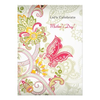 Butterfly Patch Mother's Day Invitation