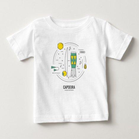 Capoeira Brasil - Musical Instruments Brazil Baby T-Shirt