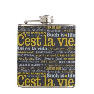 C'est La Vie custom flask