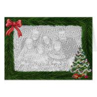 Christmas Pine Frame Photo Card