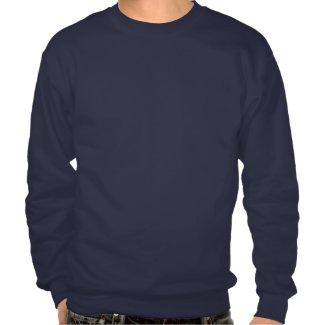 Christmas Pixel Sweater Pullover Sweatshirt: Red/W