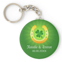 Clover golden horse St Patrick's day wedding favor Key Chains