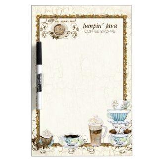 Coffee Lovers Custom Bistro Restaurant Menu Board Dry Erase Board