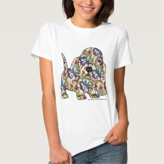Colored Basset Hound T-Shirt