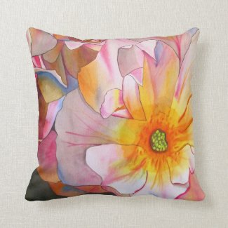 Cornelia rose pastel floral pillow